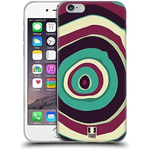 Head Case Designs Sveglio Anelli Di Albero Colorati Cover Morbida In Gel Per Apple iPhone 6 / 6s