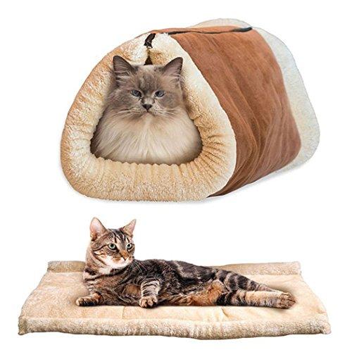 Sie Zu Katze Kostüm Hause Machen - Katzenhöhle,Legendog Faltbare Plüsch Katzenhaus Katzenbett Katzenkissen Warm Cat CushionKatzenhöhle mit Mit quietschendem Papier im Inneren