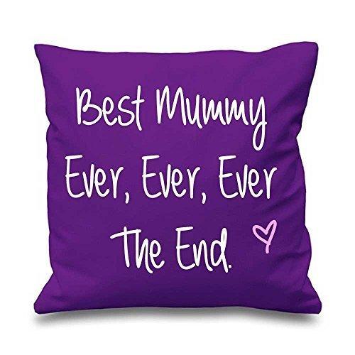Violet Housse de coussin Best Mummy jamais jamais jamais The End 40,6 x 40,6 cm Maman ami Cadeau Coussin décoratif Maison Fête des Mères