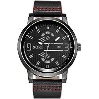 JiaMeng Reloj de Casual, Reloj Correa de Nylon de la Manera de la Pareja Relojes de Pulsera de Cuarzo analógico Redondo