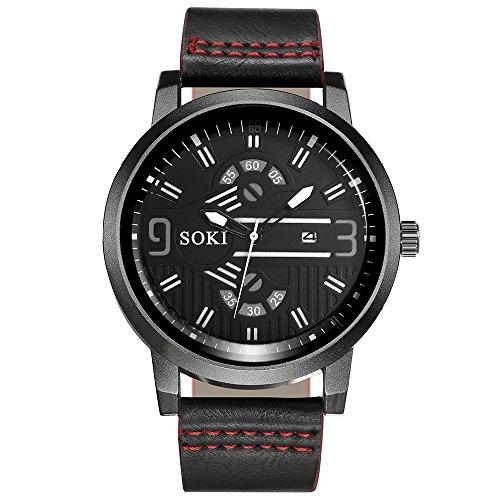Paar-Art und Weise Nylonstraps-analoge Quarz-runde Armbanduhr-Uhren Kinlene-Herren Uhren