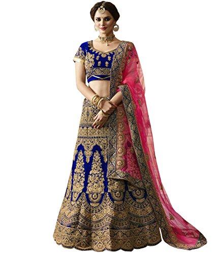 Indian Ethnicwear Bollywood Pakistani Wedding Royal Blue A-line Coloured Un-stitched