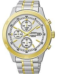 Seiko SKS432 Reloj de pulsera para hombre, con cronógrafo, en dos tonos