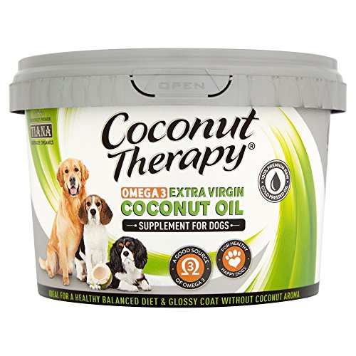 TIANA Coconut Therapy – Omega 3 Extra Virgin Coconut Oil, food supplement for dogs 500ml