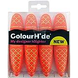 ColourHide My Designer Highlighter - Pack of 4 (Orange)