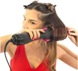 One step Hair Dryer & Volumizer, Salon Hot Air Paddle Styling Brush Negative Ion Generator Hair Straightener Curler Styler for All Hair Types
