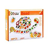 #6: Baybee Premium Fruits and Vegetables Lacing & Stringing Beads | Wooden Educational Toys to Stimulate Brain Development & Fine Motor Skills | Classic Toys