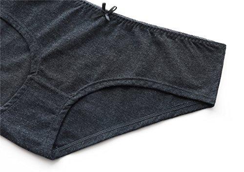 CharmLeaks Damen Umstandsmode unterhose Schwangerschaftsslip MU812 6er Pack Schwarz/Weiß/Grau/Grau