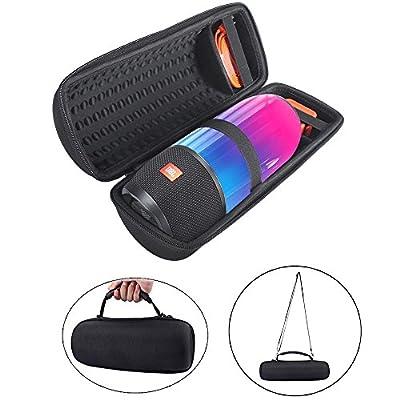 Housse de Transport pour JBL Pulse 3, JBL Pulse3 Case Cas Voyage portatif Lycra Punching Zipper Transportant des Sacs de Couverture de Protection Cutanées Manches Housse pour Pulse3 Enceinte portable Bluetooth - Noir par NC