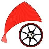Andux Zone 10mm reflektierendes Räder Klebeband Rad Streifen Abziehbild Ordnung für Motorrad Räder 14-16inch QCFGT-01 (rot)
