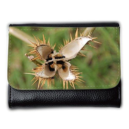 Cartera unisex // M00153821 Fiore spine spinoso Flora Giallo // Medium Size Wallet