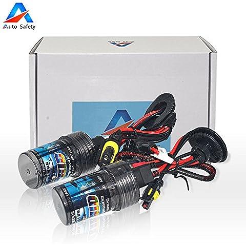 Auto Safety automóviles HID Xenon H4 bulbos de lámparas HID Kit de conversión de bulbo de la linterna 35W 12V (12V, 35W) solo haz 1 par amarillo