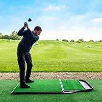 FORB Pro Driving Range Golf Übungsmatte (200cm x 122cm) (Standmatte + Abschlagmatte) – die perfeke Kombination um Ihr Spiel zu perfektionieren [Net World Sports]