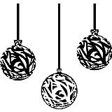 Set mit 3 Kugeln, 20 cm, erhältlich in 18 Farben, Weihnachten Weihnachtskugeln Fenster und Wand Aufkleber, Wand Windows-Art ThatVinylPlace Wandtattoo,