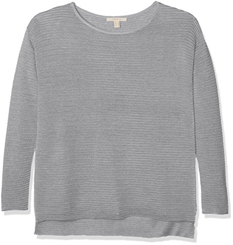 ESPRIT Damen Pullover 107EE1I014 Grau (Stumble Grey 4 043), Small