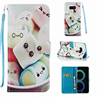 For Samsung Galaxy S8 Case [with Free Screen Protector], Qimmortal(TM) Premium PU Leather Wallet Case Stand Book Type Style Cover with [Lanyard Strap] and [Credit Card Holders Slots] Flip Folio Magnetic Detachable Button Protective Case Cover For Samsung Galaxy S8(Sugar)