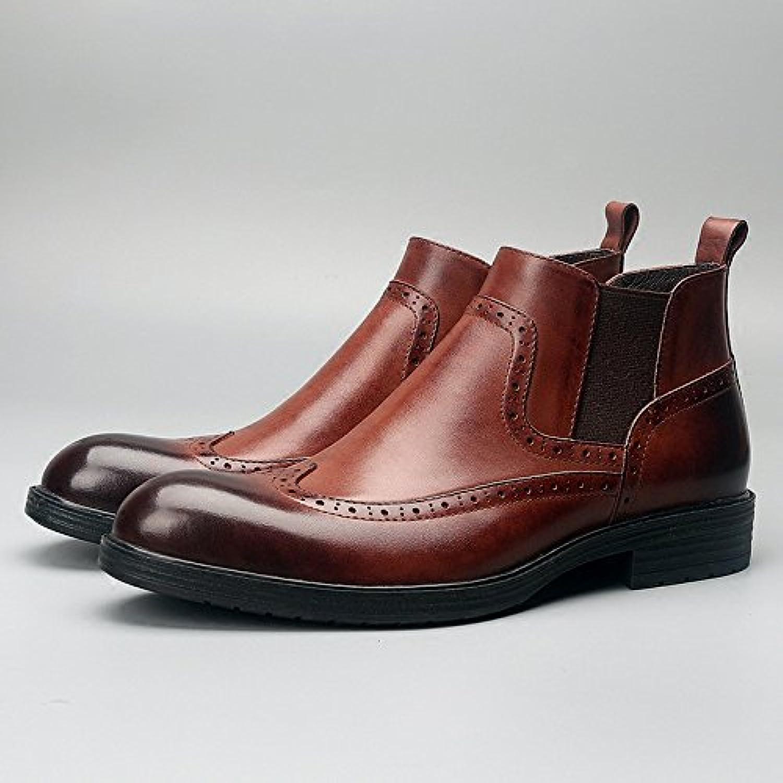Bullock ha inciso le scarpe gli stivali corti inglese bullock intagliare le scarpe,Marroneee scuro,43   Affidabile Reputazione    Maschio/Ragazze Scarpa