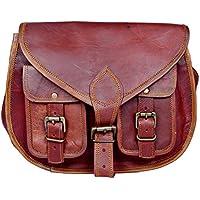 Shakun sac bandoulière en cuir vintage authentique fabriqué à la main pour femmes, double poche frontale, 100% cuir pur avec livraison gratuite, NOUVEL AN 2019 Sale- 2 JOURS restants