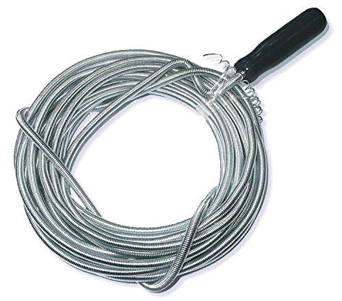 DWT-Germany 100085 10m x 8mm Rohrreinigungswelle Flexible Spirale Abflussspirale Rohr Reinigungsspirale Abflussreiniger Rohrreinigungs Welle Abfluss Spiralle Rohr Reinigungs Spirale -