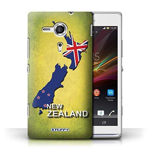 Kobalt® Imprimé Etui / Coque pour Sony Xperia SP/C5303 / Amérique/Américain/USA conception / Série Drapeau Pays nouvelle Zélande