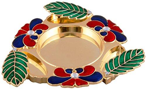 Bombay Haat Designer PujaThali / Haldi Kumkum Holder /Engagement Ring Platter /...