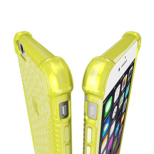 iPhone 6Cas, luvvitt Transparent Grip iPhone Air Housse/11,9cm écran   slim transparent TPU Coque souple/Bumper Cover (non compatible avec iPhone 55S 5C 44S ou iPhone 6Plus 14cm écran), transpa Electric Yellow (Neon Series)