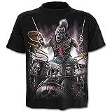 Taglia XL - C03 - T-Shirt - Maglietta - Maglia - 3D - Maniche Corte - Uomo - Donna - Unisex - Divertenti - Idea Regalo - Accessori - Cosplay - Travestimento - Teschio - Rock - Metal - Musica - Gotico