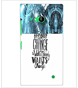 PrintDhaba Quote D-4711 Back Case Cover for NOKIA LUMIA 730 (Multi-Coloured)