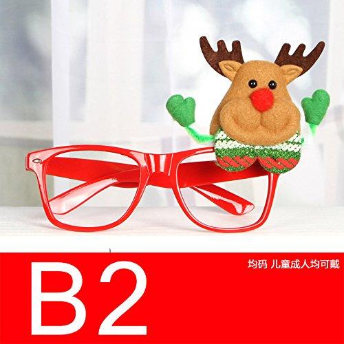 Ornamenti di Natale Natale giocattolo Occhiali Ornamenti giocattoli Santa pupazzo di neve partito occhiali per bambini,B2