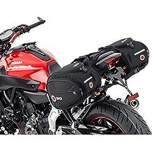 QBag - Alforjas para moto (doble), color negro