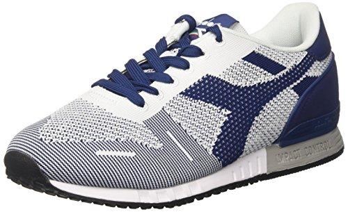 Diadora Titan Weave, Sneakers Basses Homme Blanc Cassé (White/white/estate Blue)