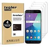 iVoler [4 Unidades] Protector de Pantalla Compatible con Samsung Galaxy J7 2017, Cristal Vidrio Templado Premium [Dureza 9H] [Anti-Arañazos] [Sin Burbujas]