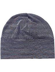 Bonnet de Nuit Coton Multiusage avec Masque des Yeux Chapeau Souple Tricoté Adulte Unisexe