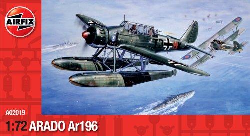 Airfix a02019 - kit modellismo, aereo militare arado ar196, serie 2, scala 1:72 [importato da regno unito]