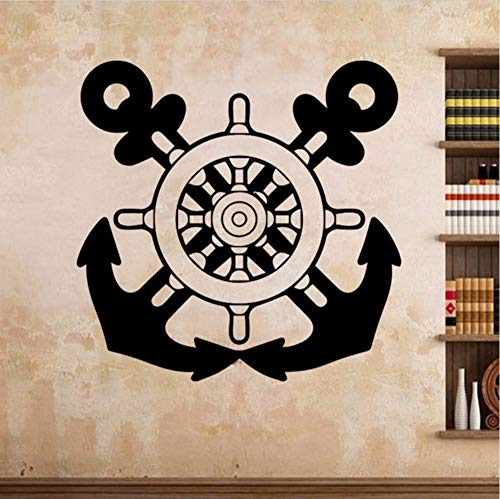 Wmbz Kreatives Design Wandaufkleber Für Jungen Schlafzimmer Dekoration Zwei Axt Vinyl Wandtattoo Wohnkultur Kunst Aufkleber Retro Poster 55X55 Cm