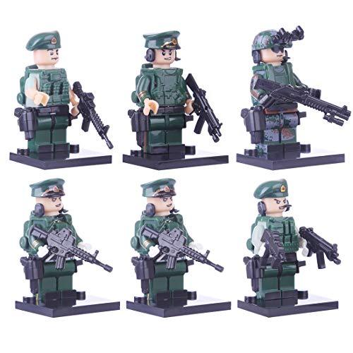 BOROK 6 Stück Mini Figuren Set Armee Minifiguren Soldaten SWAT Bausteine Spielzeug Minifiguren Toys