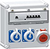 Bals Elektrotech. CEE-Steckdosenkombination 518714 mit FI CEE-Steckdosen-Kombination 4024941194532