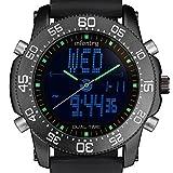 Infantry Herren Analog-Digital Uhr Chronograph Outdoor Schwarz Rubber Armband