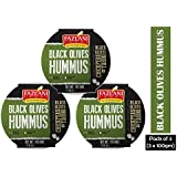 Fazlani Foods Ready to Eat Black Olives Hummus Shelf Stable & Gluten Free - Pack of 3 (100gm Each)
