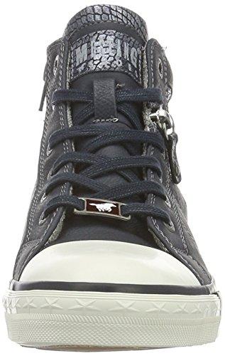 Mustang 1146-508, Sneakers Hautes Femme Bleu (820 navy)