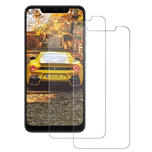 DONSTO Panzerglas Schutzfolie Compatible with Xiaomi Pocophone F1, Bildschirmschutzfolie für Pocophone F1 [Case Friendly], Frontglas-Schutzfolie [2 Stück], Screen Protector 2.5D Arc Edge Film [3D Touch]