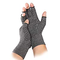 Arthritis Hand Compression Gloves Breathable Medical Copper Glove Alleviate Rheumatoid Pains Fingerless Gloves Arthritis Pain Relief Raynauds Disease & Carpal Tunnel Premium Copper Infused Fit Glove