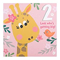 "Hallmark 2nd Birthday Card""Getting Big"" - Small Square"