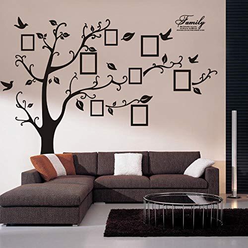 Wandaufkleber PVC selbstklebend Großer schwarzer Erinnerungsbaum Fotobaum Wandaufkleber