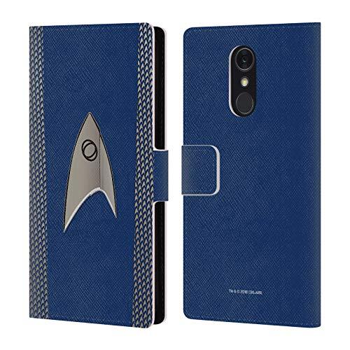 Head Case Designs Officiel Star Trek Discovery Science Uniformes Coque en Cuir à Portefeuille Compatible avec LG Q Stylus/Q Stylo 4
