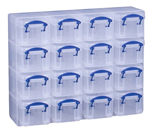 Really Useful Box Organizer-Box, verschiedene Farben, 16 Stück 0.14 Litre farblos (Box Really Useful 16)