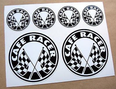 CAFE RACER Bandiera A Scacchi logo set adesivi (Bandiera A Scacchi Set)