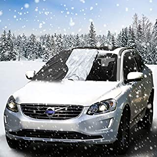 Aodoor Frost Windshield Cover, Car Windscreen Snow Cover for Winter Snow Removal, Keep your Vehicle Exterior Clean and Freeze Free Fits SUV, Truck & Car - 210 * 120cm