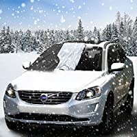 Aodoor Copertura Parabrezza Auto, Pellicole protettive antighiaccio per Magnetic Parabrezza Neve Parabrezza Auto Protegge Adatto per la Maggior Parte dei Veicoli (210 x 120 cm)