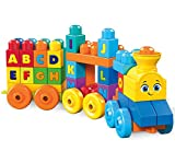 Mega Bloks FWK22 ABC Musical Train Bricks, Multi-Colour